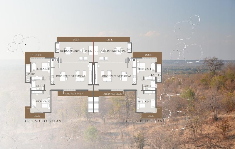Plan of 5 bedroomed villa - click to view large image